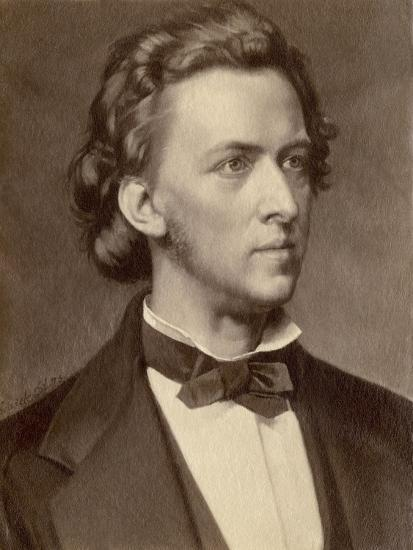 Composer and Pianist Frederic Chopin--Giclee Print