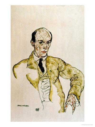 Composer Arnold Schoenberg, 1917-Egon Schiele-Giclee Print