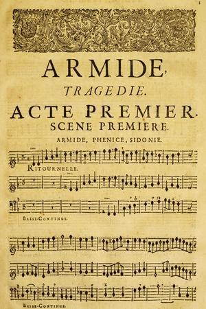 Score for Opera Armide, Act I, Scene One