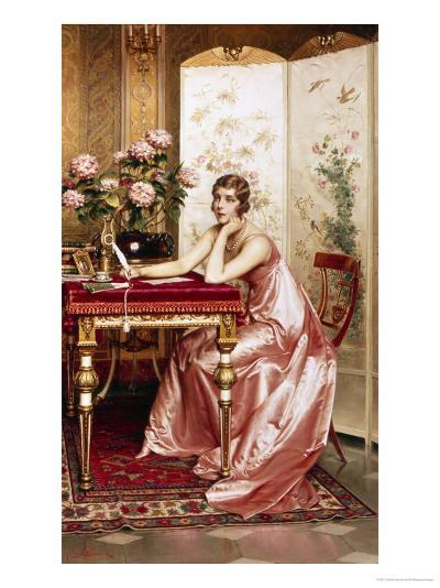Composing a Letter-Joseph Frederic Soulacroix-Giclee Print