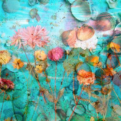 Composing of Flowers and Mussels-Alaya Gadeh-Photographic Print