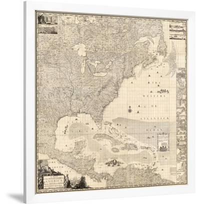 1733 British Empire in America Septentrionalis Historic Map 24x24