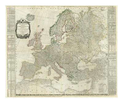 Composite: Europe, c.1787-Thomas Kitchin-Art Print