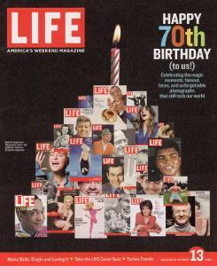 Composite Image Featuring 25 Earlier Covers, 70th Anniversary, October 13, 2006