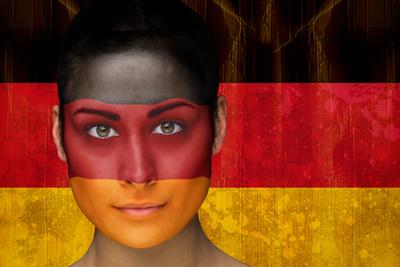 Composite Image Of Beautiful Football Fan In Face Paint Against Germany  Flag In Grunge Effect Photographic Print By Wavebreak Media Ltd | Art.com