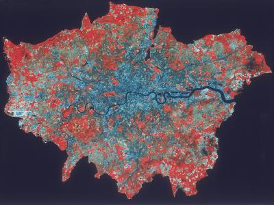 Composite Landsat False Colour Image of Greater London, 1979--Giclee Print