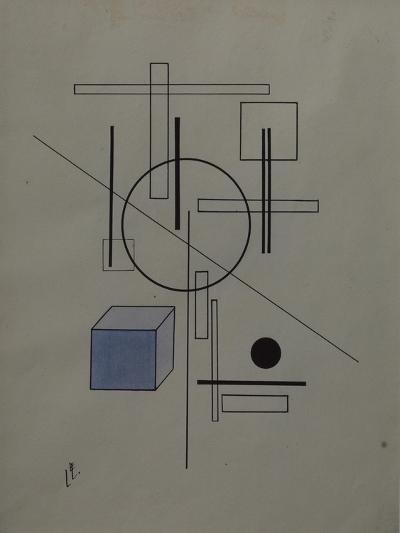 Composition, 1920-El Lissitzky-Giclee Print