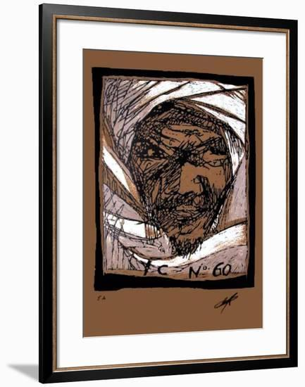 Composition 60 fond beige-Yves Clerc-Framed Limited Edition