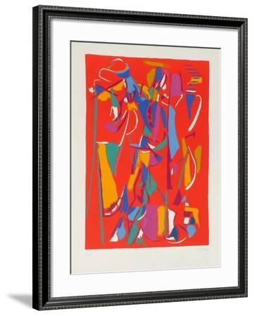 Composition abstraite IV-André Lanskoy-Framed Premium Edition