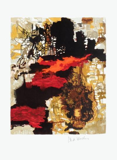 Composition abstraite IV-Pierre-Andr? De Wisches-Collectable Print