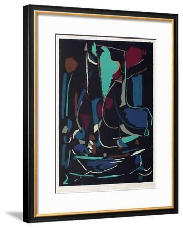 Composition abstraite XIII-André Lanskoy-Framed Premium Edition