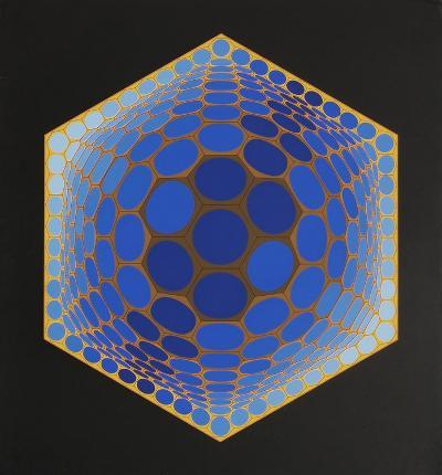 Composition alv?olaire-Victor Vasarely-Premium Edition