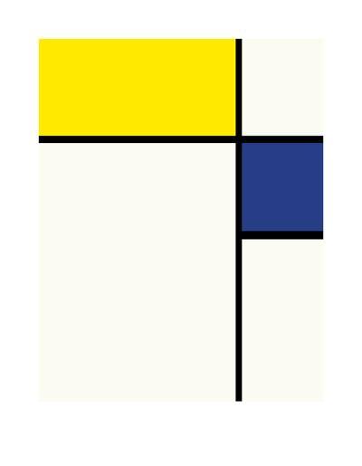Composition avec bleu et jaune, 1932-Piet Mondrian-Premium Giclee Print