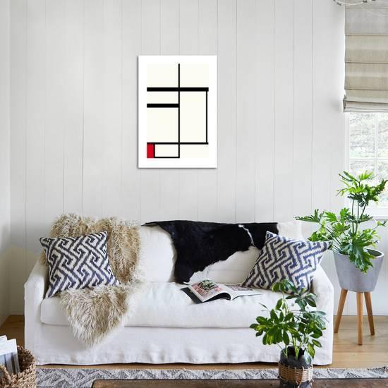 Composition Avec Rouge Noir Et Blanc 1931 Premium Giclee Print By Piet Mondrian Artcom