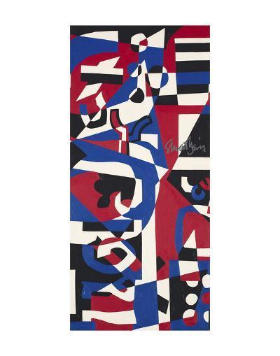 Composition Concrete (Study for Mural), 1957-1960-Stuart Davis-Art Print