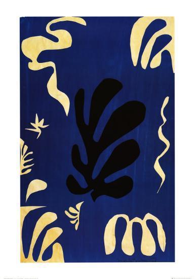 Composition Fond Bleu-Henri Matisse-Art Print