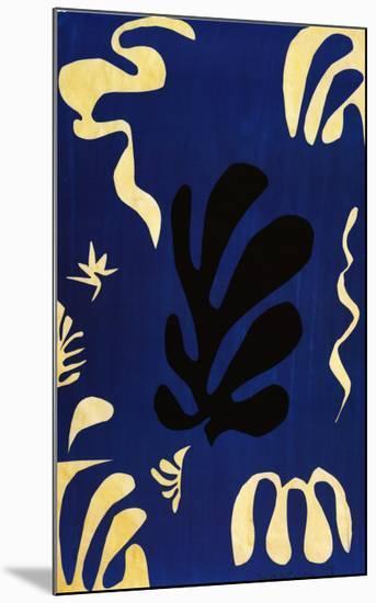 Composition Fond Bleu-Henri Matisse-Mounted Art Print