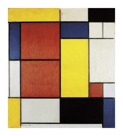 Composition II, 1920-Piet Mondrian-Premium Giclee Print