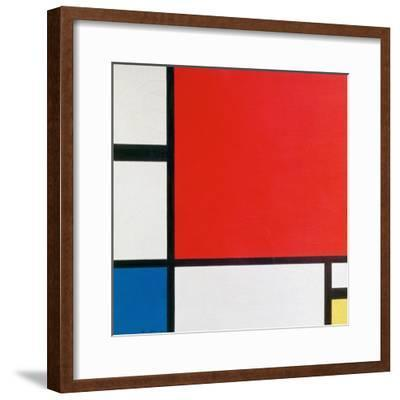 Composition II in Red, Blue, and Yellow-Piet Mondrian-Framed Art Print