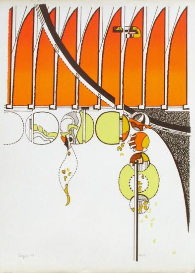 Composition II-Iaroslav Serpan-Serigraph