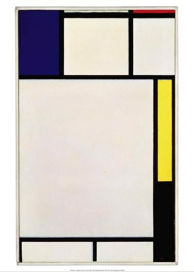 Composition in Blue, Red, Yellow and Black, 1922-Piet Mondrian-Art Print