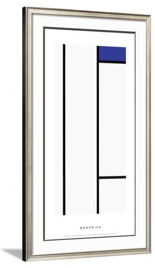 Composition in White and Blue-Piet Mondrian-Framed Art Print