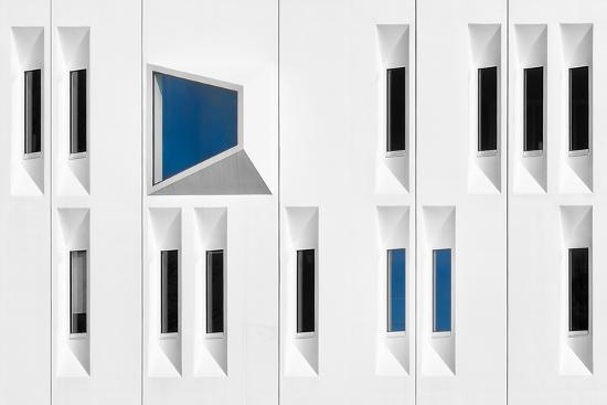 Composition in White, Black and Blue-Michiel Hageman-Photographic Print
