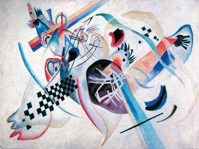 Composition N. 224, On the white-Wassily Kandinsky-Giclee Print
