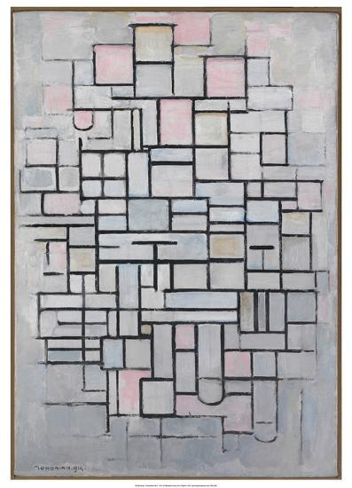 Composition No.6., 1914-Piet Mondrian-Art Print
