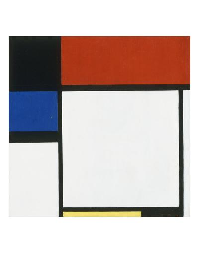 Composition No. III / Fox Trot B with Black, Red, Blue and Yellow, 1929-Piet Mondrian-Art Print