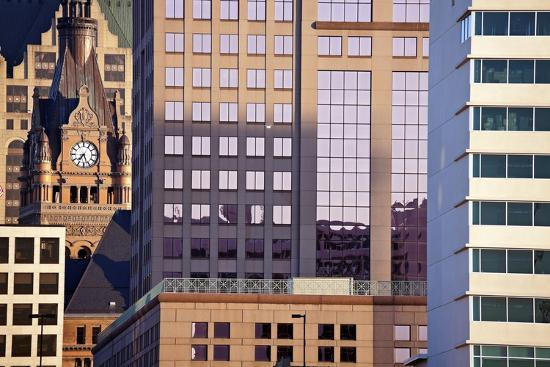 Composition of Milwaukee Buildings-benkrut-Photographic Print