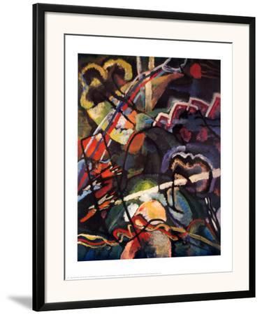 Composition Storm-Wassily Kandinsky-Framed Art Print