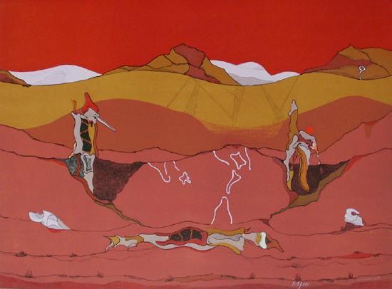 Composition SurréaIIste II-Jorge Camacho-Limited Edition