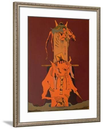 Composition Surrealiste II-Jorge Camacho-Framed Premium Edition