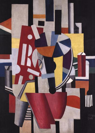 Composition The Typographer (No Border)-Fernand Leger-Art Print