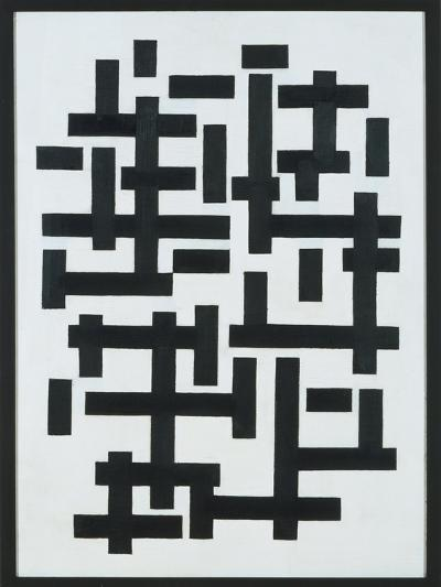Composition White-Black, 1918-Theo van Doesburg-Giclee Print