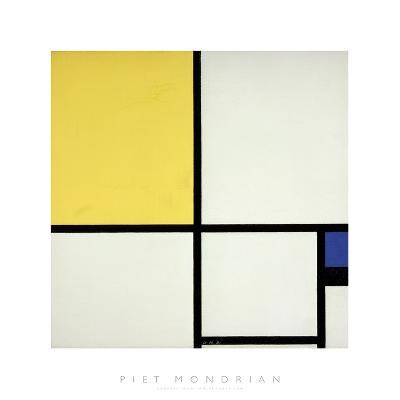 Composition with Blue and Yellow-Piet Mondrian-Art Print
