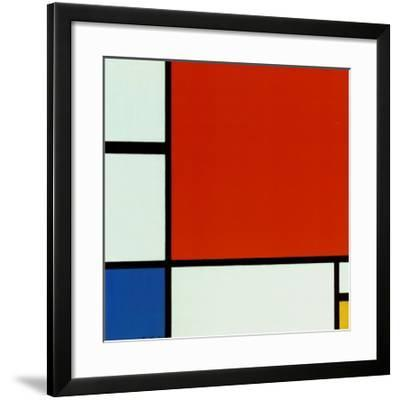 Composition with Red Blue Yellow-Piet Mondrian-Framed Art Print
