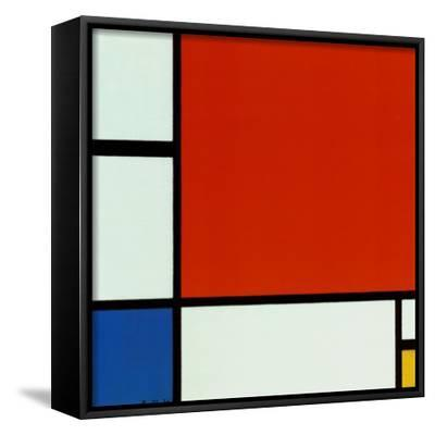Composition with Red Blue Yellow-Piet Mondrian-Framed Canvas Print