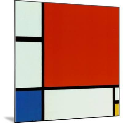 Composition with Red Blue Yellow-Piet Mondrian-Mounted Print