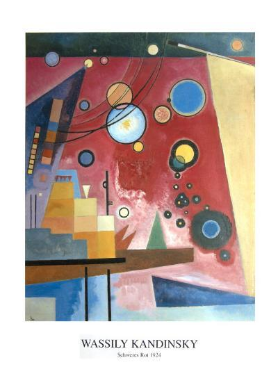 Composition with Red-Wassily Kandinsky-Collectable Print