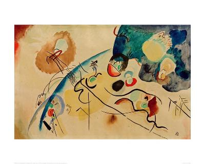 Composition with Trojka Theme, 1911/12-Wassily Kandinsky-Giclee Print
