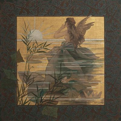 Composition with Winged Nymph at Sunrise, 1887-Alejandro de Riquer Inglada-Giclee Print