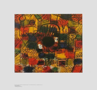 Composotion with Black Focus-Paul Klee-Art Print