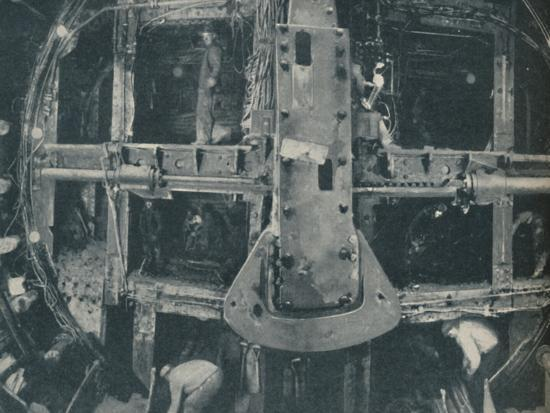 'Compound Greathead Shield Destroying A Barrier Between Two Countries', c1935-Unknown-Photographic Print