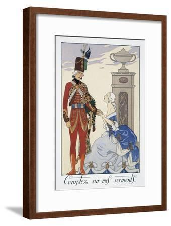 Comptez Sur Mes Serments (I'Ll Be Faithful to You)-Georges Barbier-Framed Giclee Print