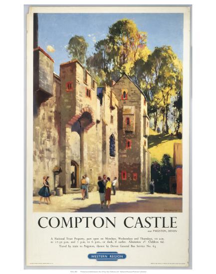 Compton Castle Art Print by | Art com