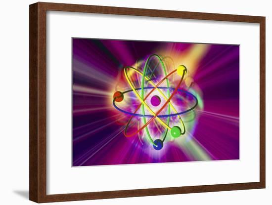 Computer Artwork of a Beryllium Atom-Mehau Kulyk-Framed Photographic Print