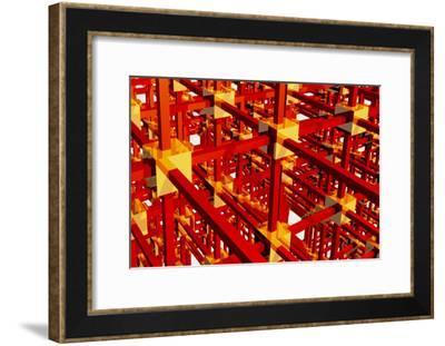 Computer Artwork of a Grid Or Network-Laguna Design-Framed Photographic Print