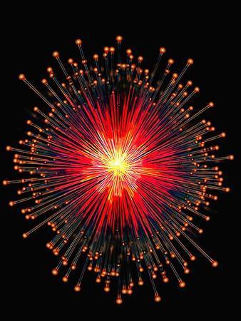 Computer Artwork of Neutrinos-Carol & Mike Werner-Photographic Print